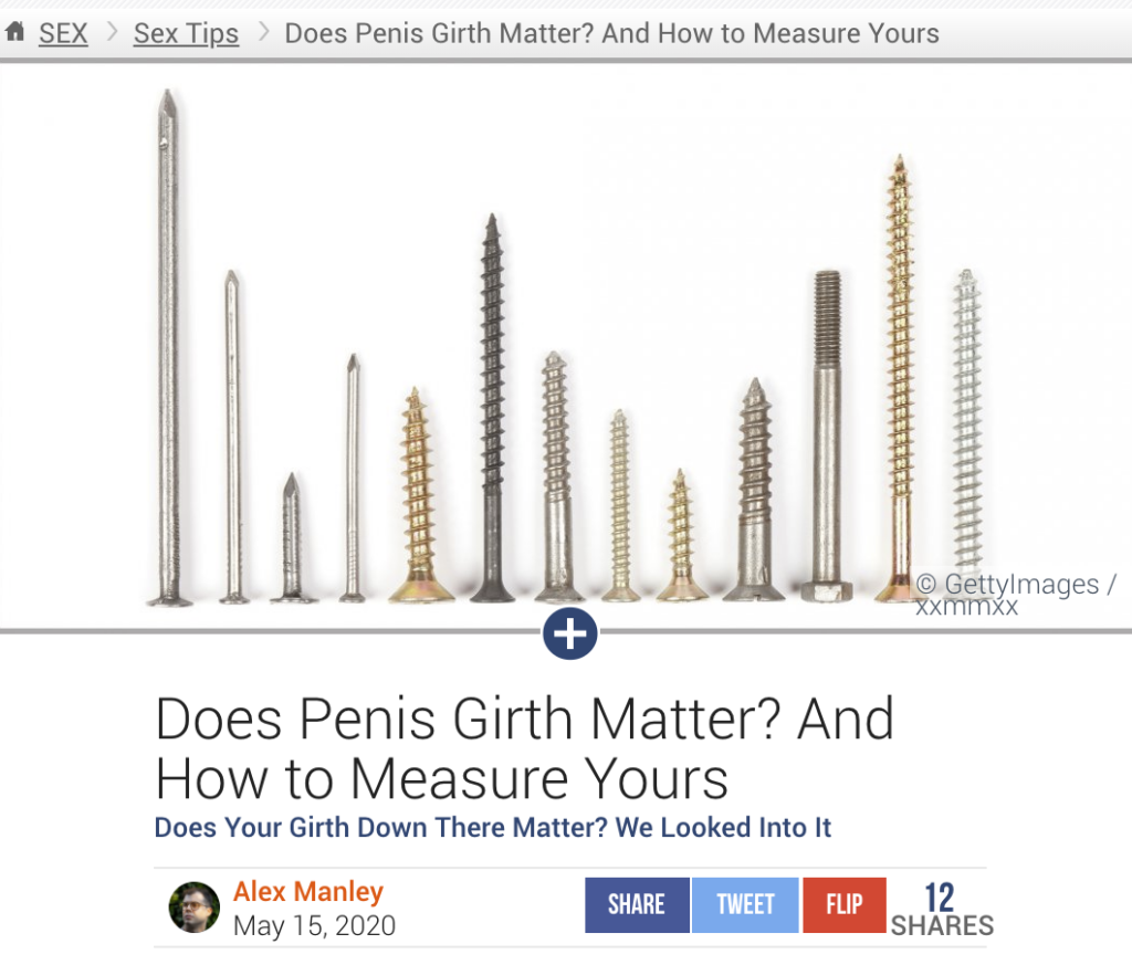 Penis way your the correct to measure What's the